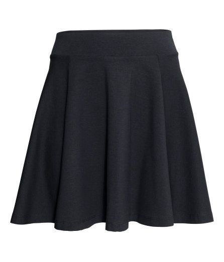 Check this out! Short, bell-shaped skirt in stretch jersey with wide elastication at the waist. Unlined. - Visit hm.com to see more.