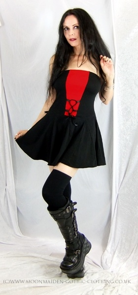 Lorelei Mini Dress by Moonmaiden Gothic Clothing UK ( Get your goth on with…
