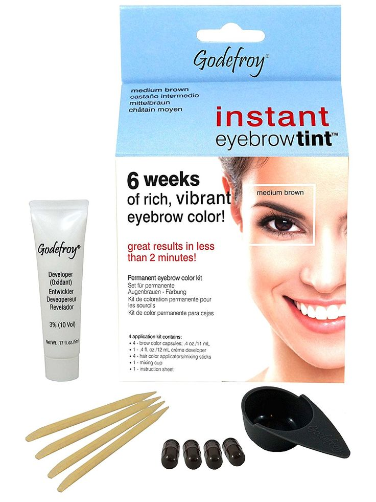 Instant Eyebrow Tint Color Weeks Medium Brown by godefroy #22