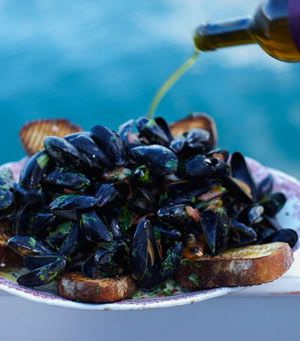 Mussels are the future. They're absolutely gorgeous, cheap, exciting, easy to farm and so quick to cook. The other brilliant thing about them is that they don't need any feeding: they live off tiny plants that they filter out of the water so they actually clean the sea. I want to help you fall back in love with them. I had my first mussel when I was about 7 years old and I remember it to this day. It's so exciting to pick the first one out of the shell and enjoy it then use that shell as…
