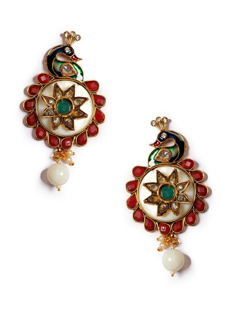 Exclusive Multicolor Meenakari Traditional Earring