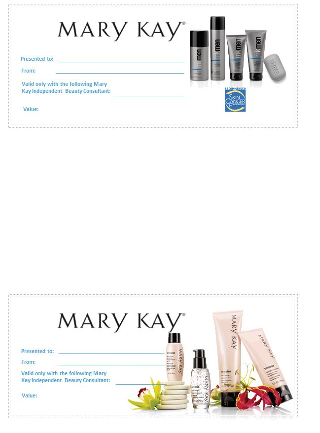 ... Pinterest | Gift certificates, Mary kay and Gift certificate template
