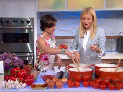 """Gwenyth Paltrow stress was """"killing her"""". Here she pretends to eat candy with raw ingredients  and praise her own weight loss."""