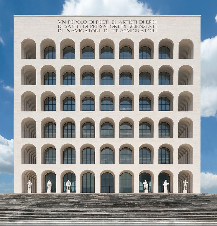 In 1938, Benito Mussolini ordered the transformation of 420 acres of lifeless no-man's land five miles outside of Rome's centre into a precinct of skyscrapers and freshly planted trees. Called EUR (Esposizione Universale di Roma), this mini-city wa...