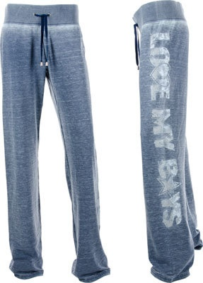 Dallas Cowboys Women's Navy Burnout Suzie Fleece Pant | eBay
