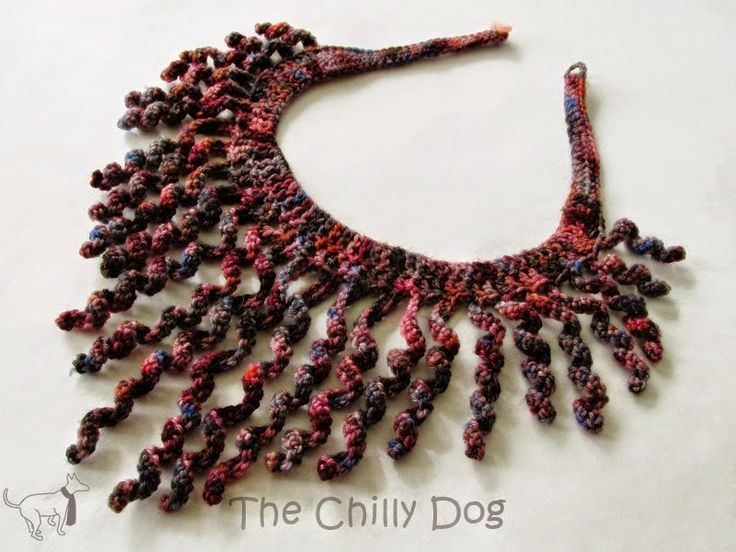 http://www.thechillydog.com/2014/12/crochet-pattern-sock-yarn-swirl-necklace.html
