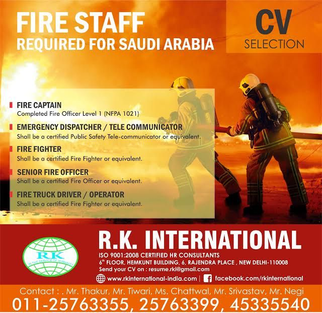Pin by RKInternational Manpower Recruitment Agency in India on - fire captain resume