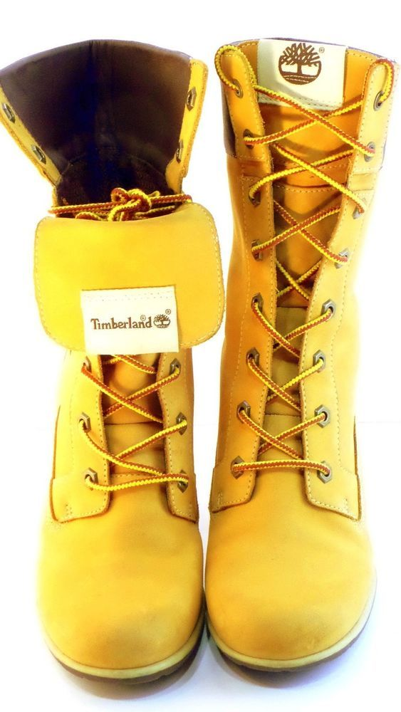 "Timberland Women's Boots 3"" inch Heel Size 6.5 Wheat Buck Leather Suede  #Timberland #MidCalfBoots"
