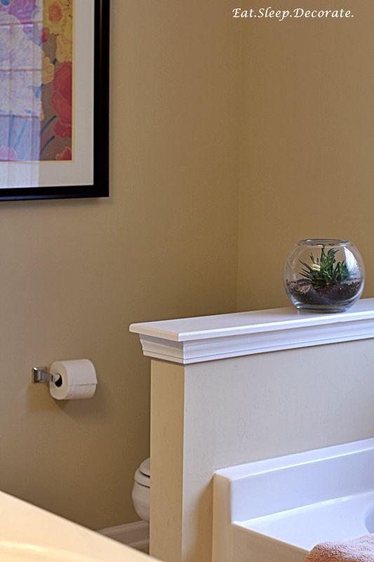 Half Bathroom Wall Decor : Half wall in bathroom nicer babayit