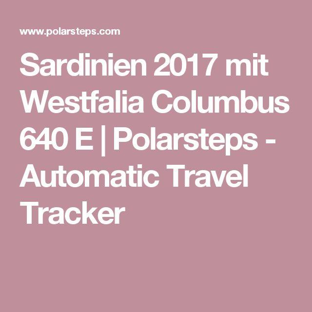 Sardinien Oktober 2017 mit Westfalia Columbus 640 E Kastenwagen-Reisemobil| Polarsteps - Automatic Travel Tracker