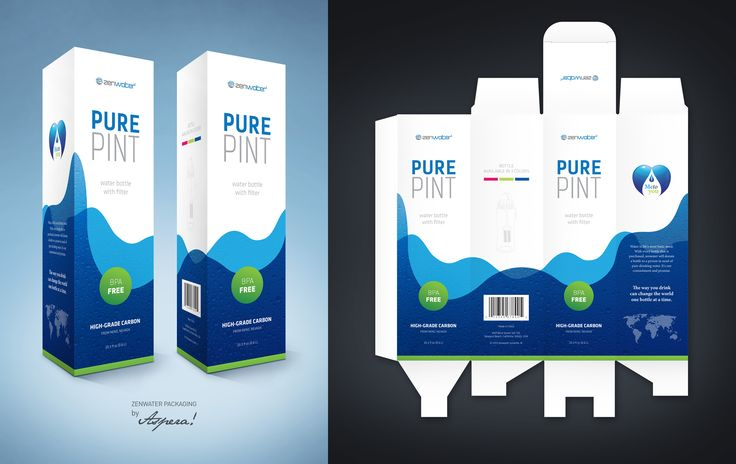 ZENWATER Packaging Product design by Aspera