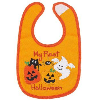 "Koala Baby "" My First Halloween"" Small Feeder Bib. The spider is especially cute on this!"