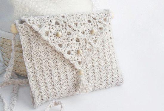 Esquemas de crochet para una cartera de hilo   diarioartesanal