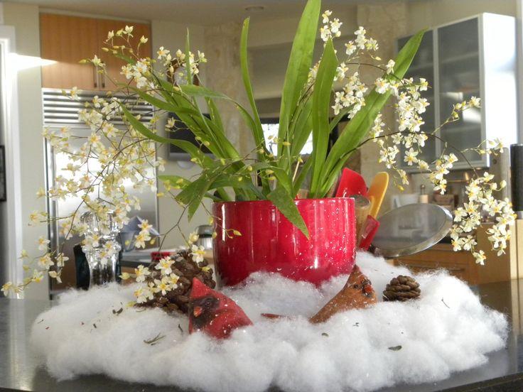 Украшение комнатных растений к новому году и рождеству