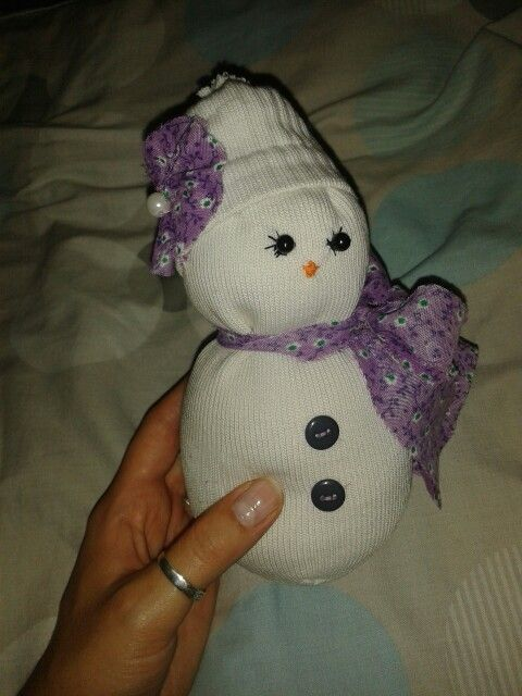 Another variation of the sock snowgirl :).