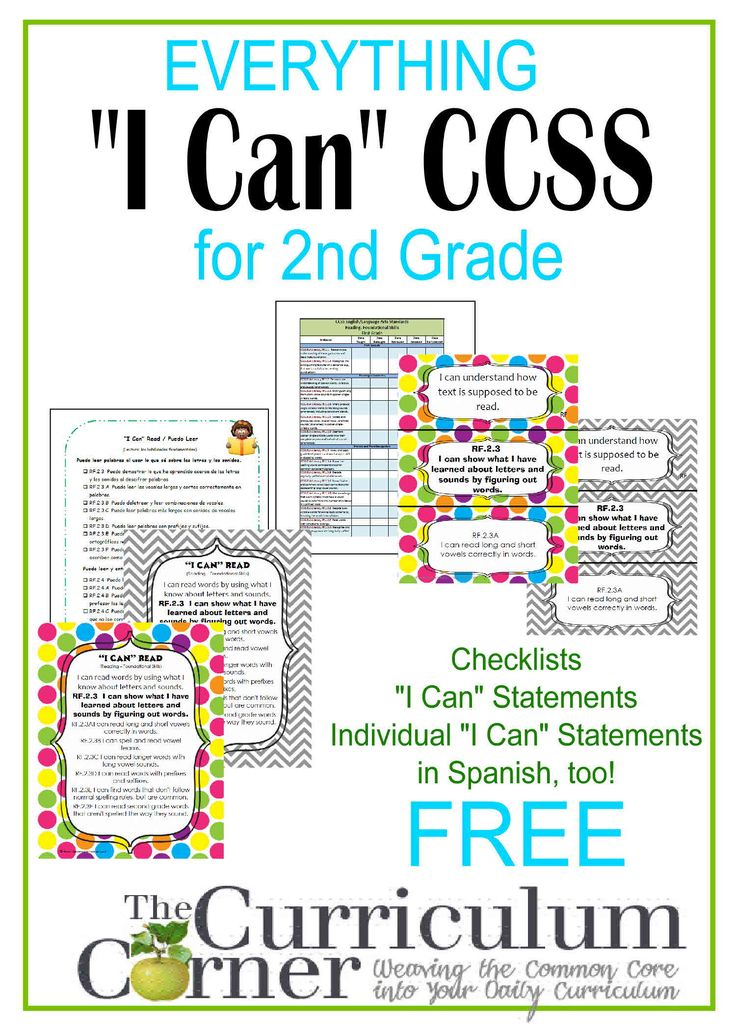 """I Can"" Statements for 2nd Grade 