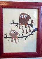 Owl hand print kids-craft-ideas