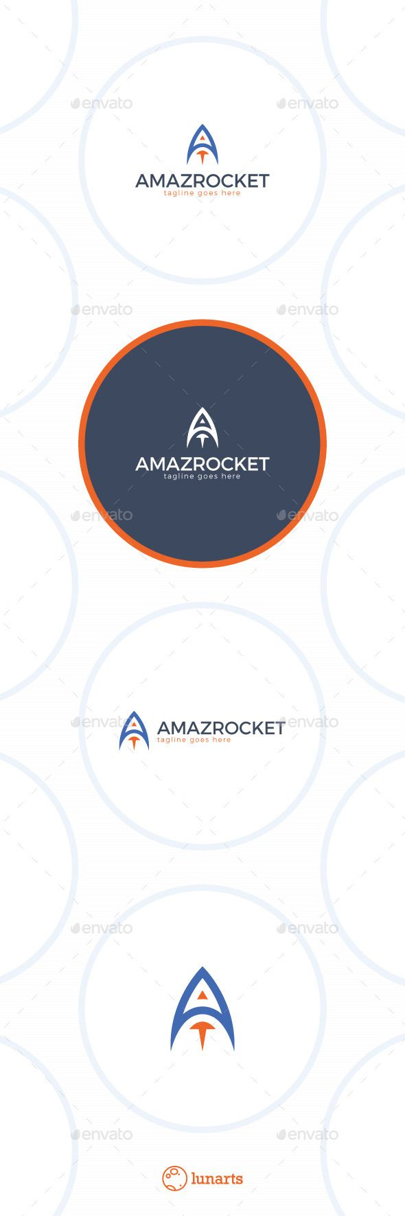 Amazing Rocket Logo  Letter A — Vector EPS #red #logo • Available here → https://graphicriver.net/item/amazing-rocket-logo-letter-a/12946713?ref=pxcr