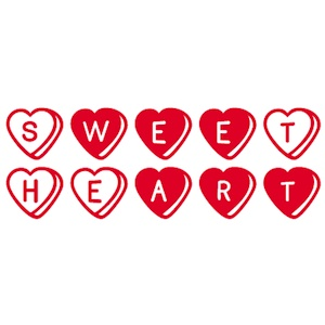 Sweetheart spelled out in heart shaped candies. Yummy good sweetness.. Personalize your toddler t-shirts with unique designs. Starting at $21