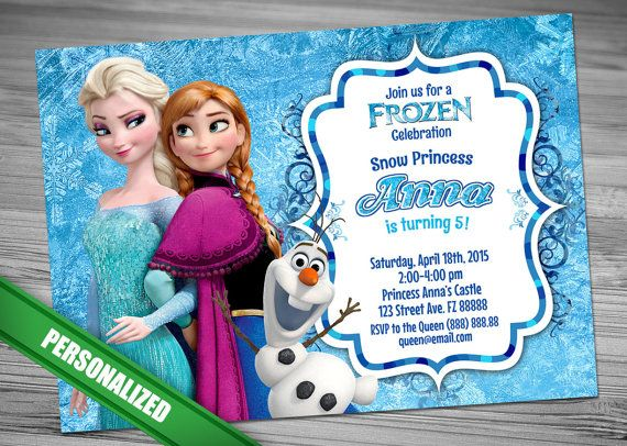 SALE 60% OFF  Frozen Invitation Frozen Birthday by CutePrintable