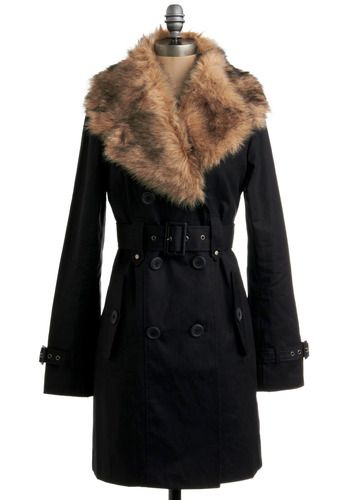 fur plus trench in one