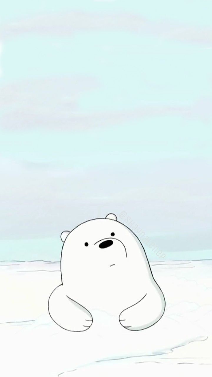 Homescreen Lockscreen Wallpaper Phone We Bare Bears Cartoon Ice