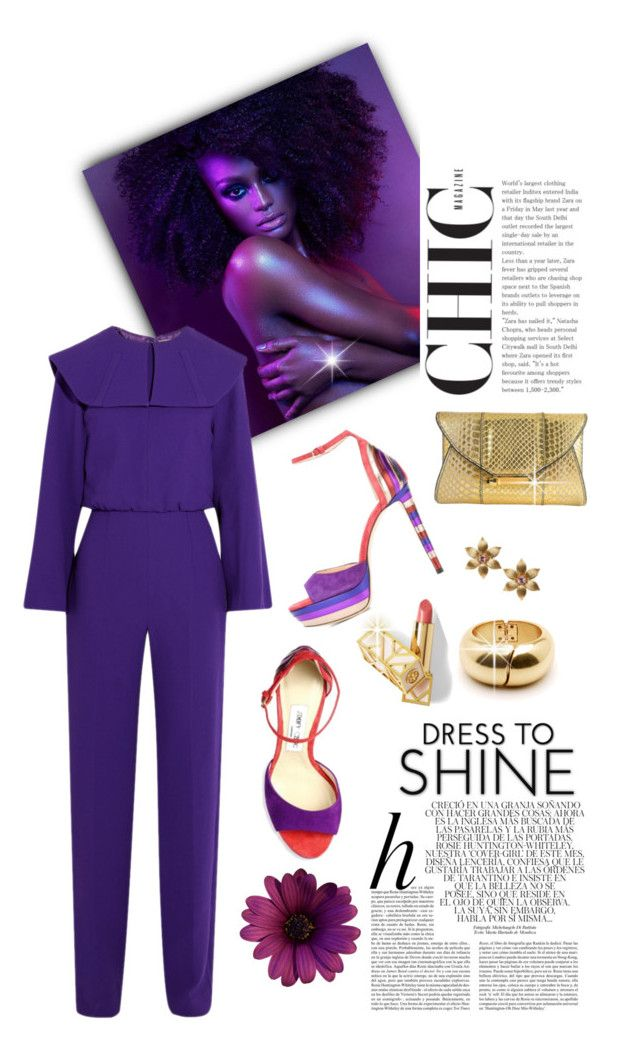 """""""PRETTY IN PURPLE"""" by shortyluv718 ❤ liked on Polyvore featuring Whiteley, Emilia Wickstead, Judith Leiber, Jimmy Choo, La Perla, Lumière, purple, jumpsuits, platformsandals and cluthes"""