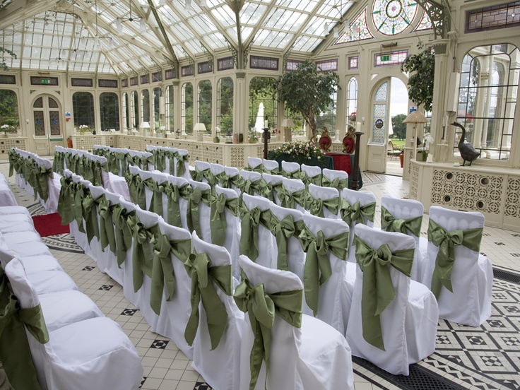 Sage Green Wedding Chair covers by Millhouse Events  Weddings at Kilworth House