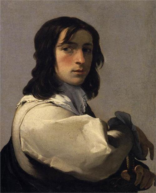 Portrait of a Young Man, by Eustache Le Sueur, c 1640.: