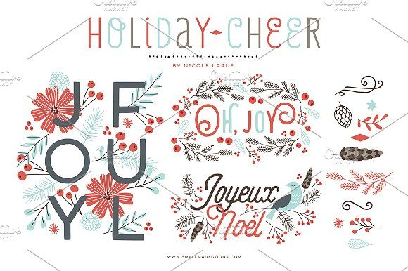 Holiday Cheer (Vector) by Small Made Goods on @creativemarket