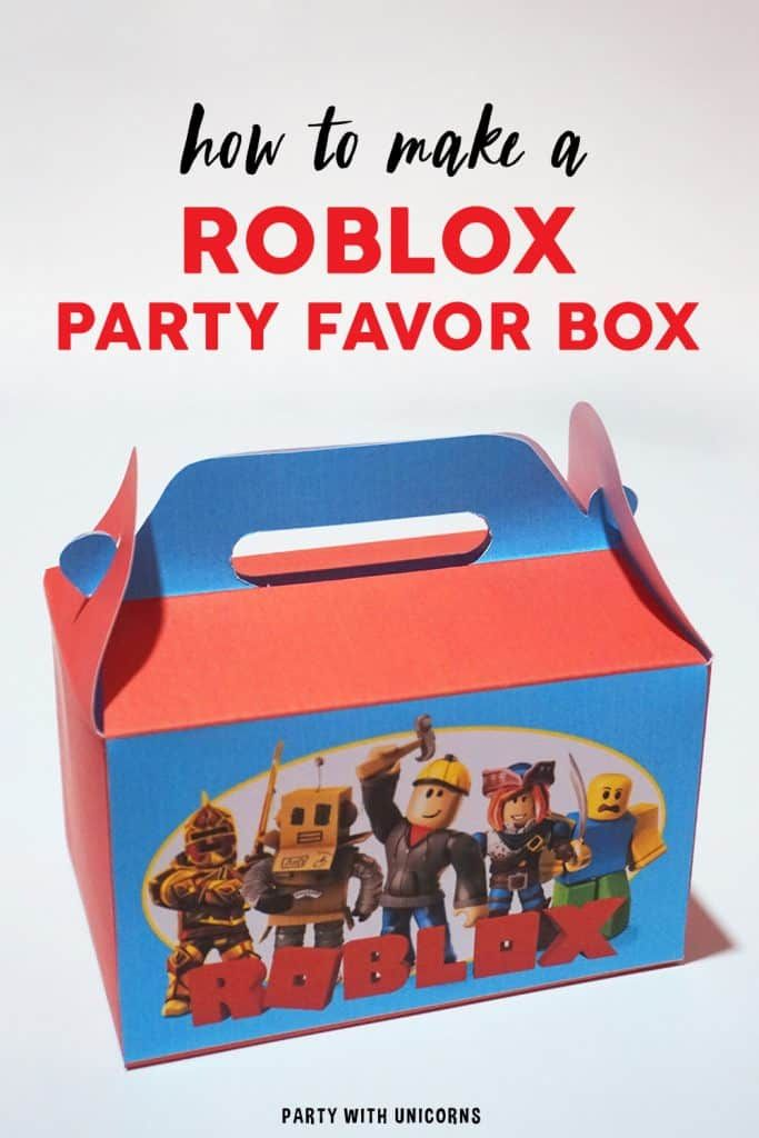 Diy Roblox Party Favor Box Free Template Birthday Party Games For Kids Party Favor Boxes Kids Birthday Party Entertainment