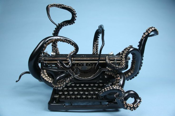 'Self Organization', A Cleverly Repurposed Typewriter That Features Giant Reaching Octopus Tentacles