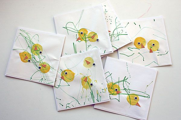 kid made easter cards: Easter Idea, Chick S Cards, Easter Chick, Easter Cards, Easter Crafts, Cards Books Paper Crafts, Baby Chicks, Kid, Chick Cards