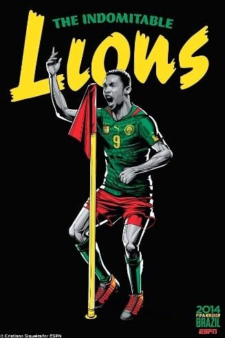 Stunning Cartoonized World Cup 2014 Team Posters