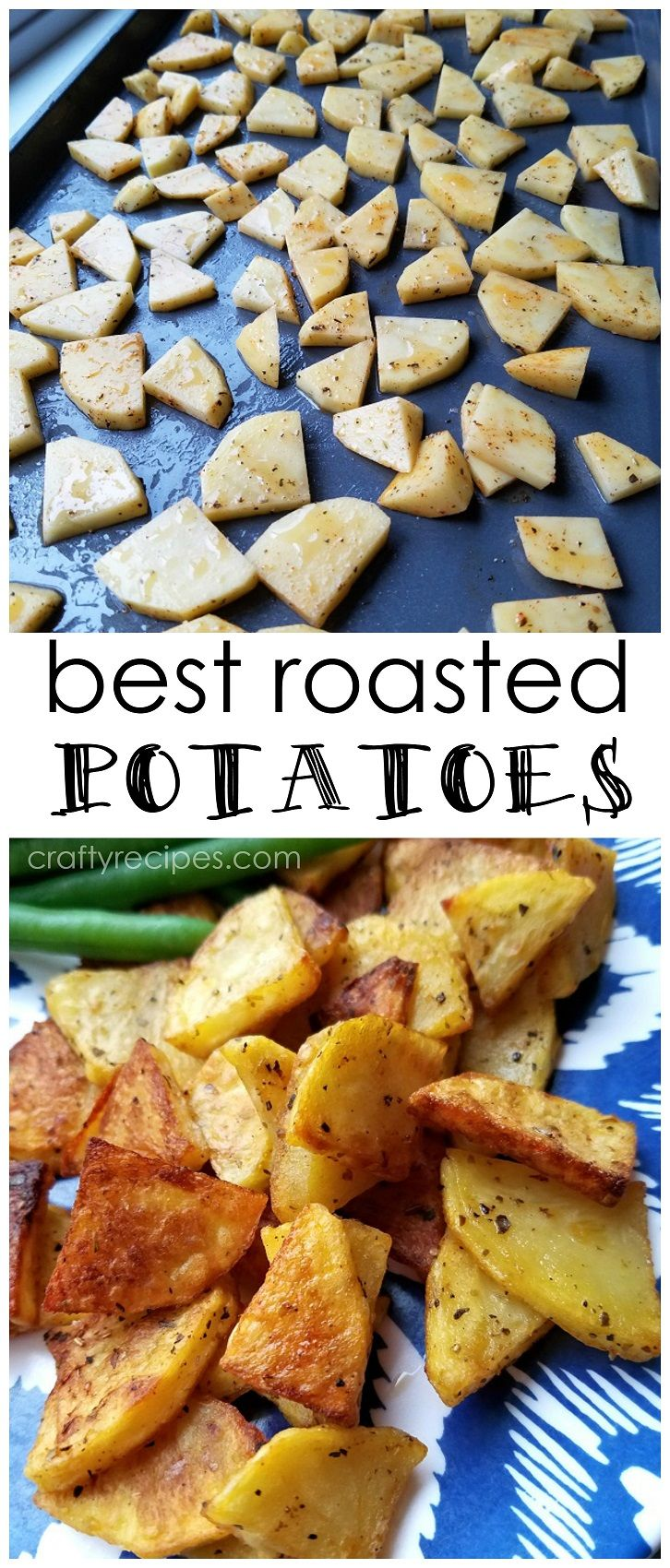 Best way to roast potatoes - easy recipe for a side to your dinner!