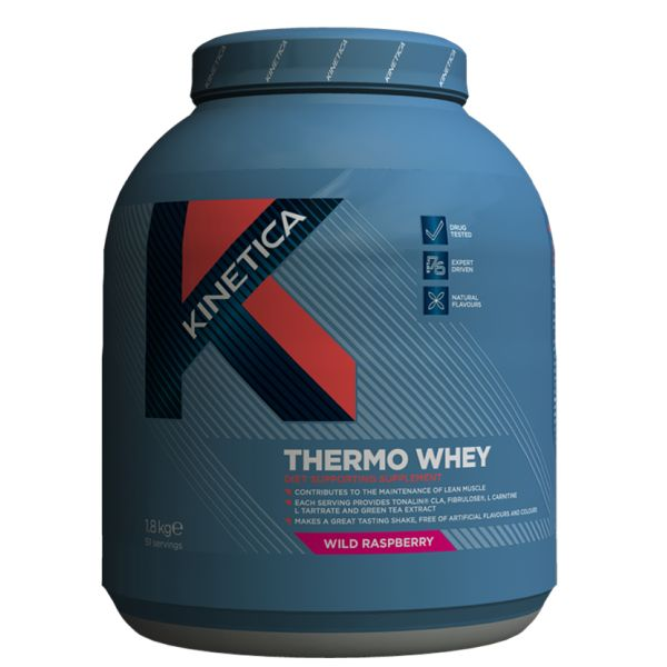 Kinetica Thermo Whey protein contains advanced high proteins, ground oats, beneficial fats, fibre and researched lean actives.