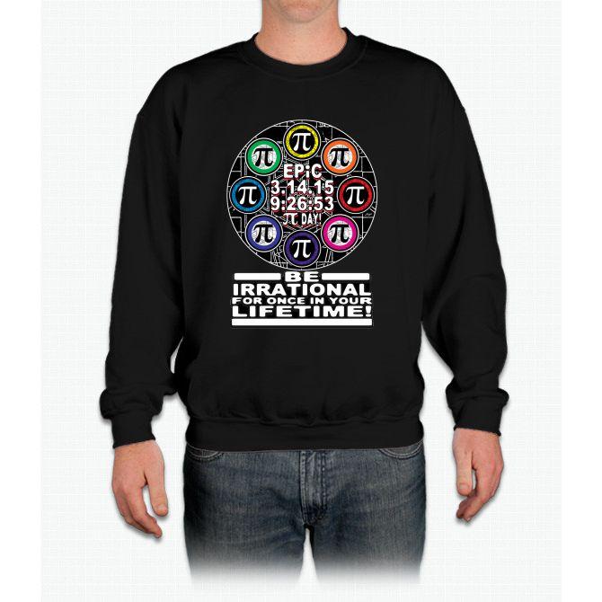 Ultimate Irrational Pi Day With Epic Pi Symbols Crewneck Sweatshirt