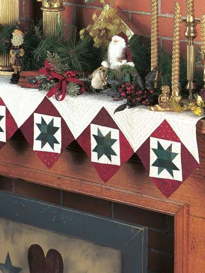 Isn't this sew cute!  I want to make one for my mantle.  It would make a world of difference!