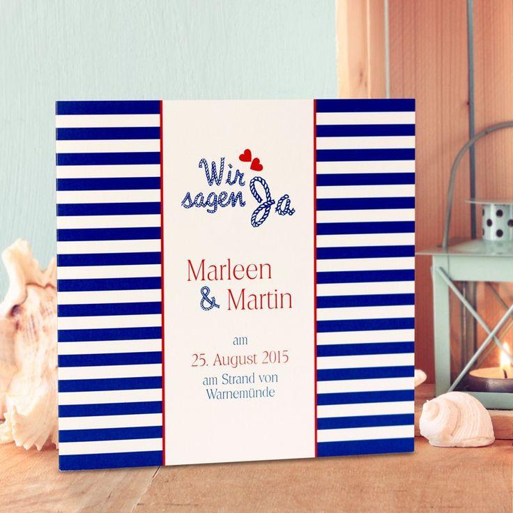 Einladungskarte Hochzeit Maritim