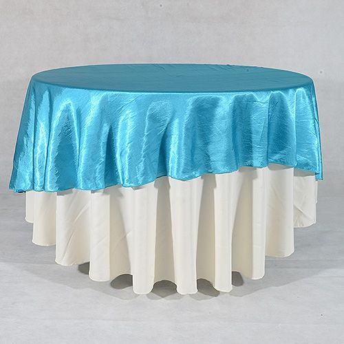 flat discount of 376 on turquoise 90 inch round satin tablecloths http