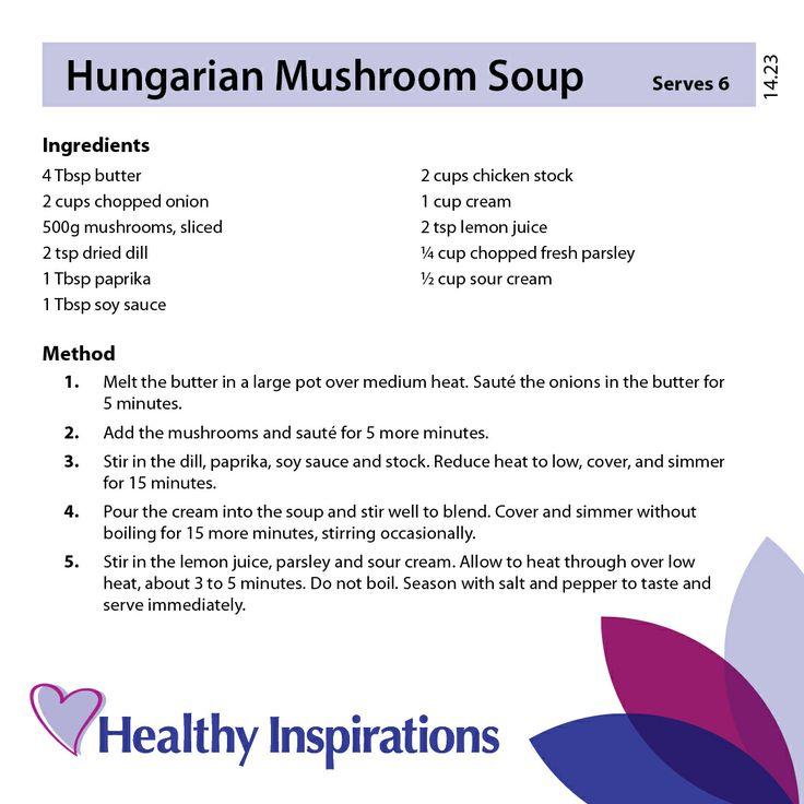 Hungarian mushroom soup #healthyinspirations #healthyrecipes