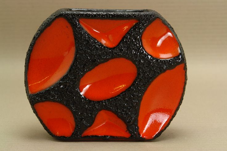 Fat Lava pottery Roth Keramik