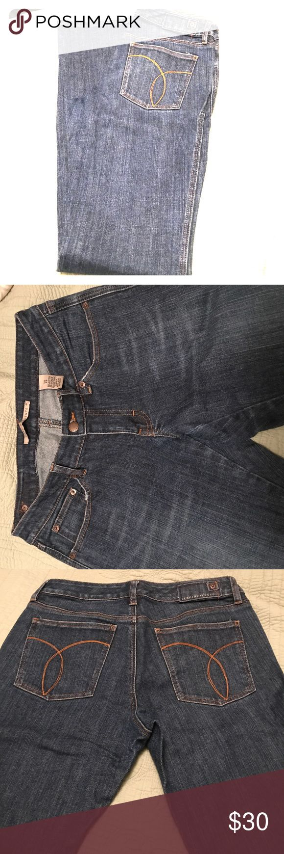 """Like NEW Sergio Valente jeans Immaculate condition Sergio Valente jeans. These are a darker wash with a slight flare and hug the hip. Size 29 with 33"""" inseam. sergio valente Jeans Flare & Wide Leg"""