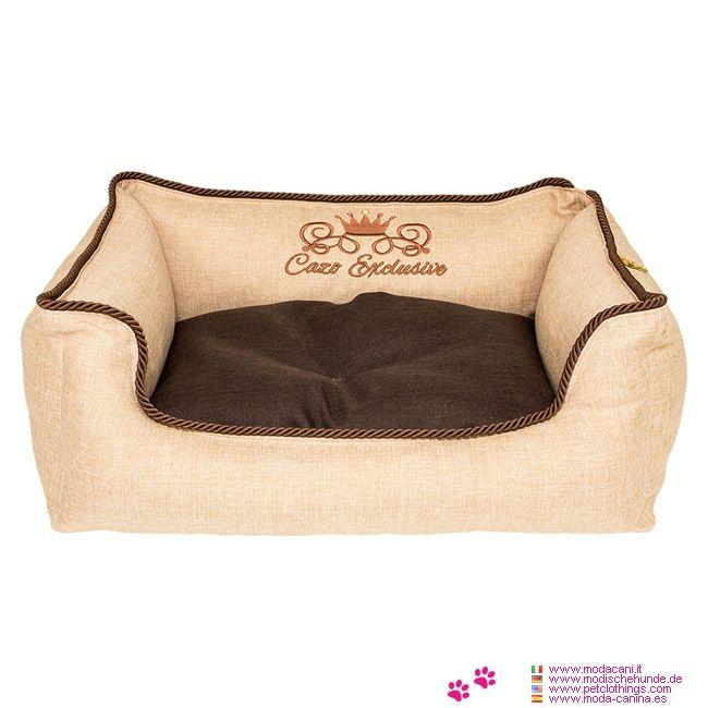 Cama Beige Desenfundable para Perros - Cama rectangular y Desenfundable de color Beige, hecha en dos tamaños diferentes, adecuadas para perros pequeños y perros de tamaño medio.