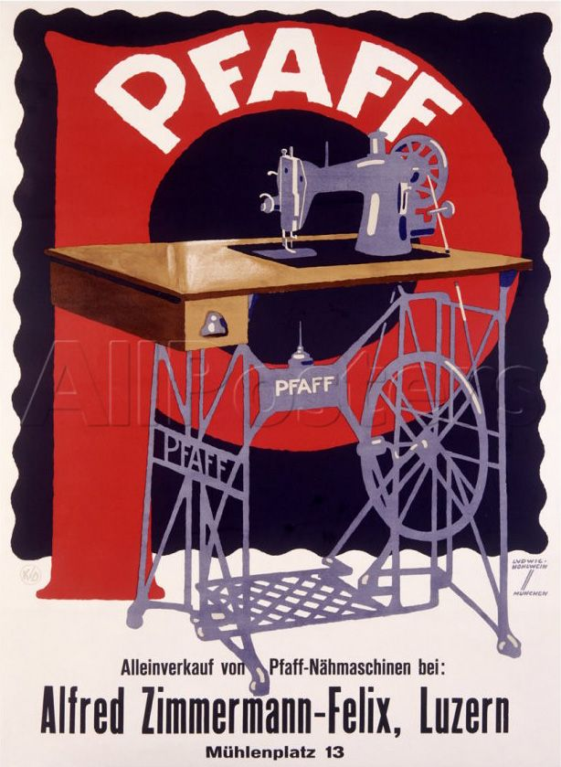 Pfaff poster, an early advertisement