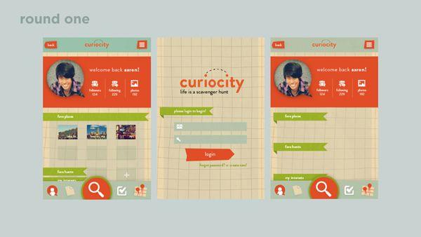 Curiocity: A Scavenger Hunt App on App Design Served