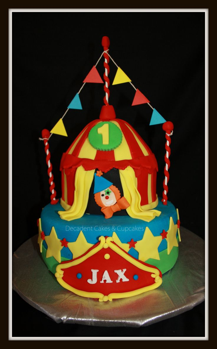<3 1st Birthday - Circus Theme Cake <3 Made By Decadent Cakes & Cupcakes