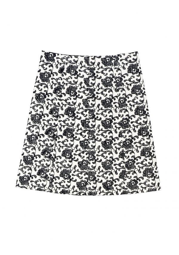 QL2 - KARA EMBROIDERY FLARED SKIRT  (REPEAT, PLEASE) #women's #fashion