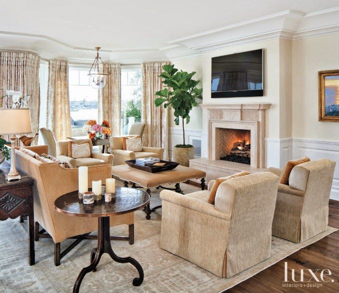Interior Designer Melinda Grubbs Created A Gracious Living Area In Newport Beach Home With Quartet Of Custom Chairs And Dennis Leen Sofa