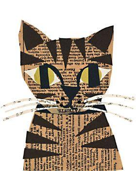 decoupage cat